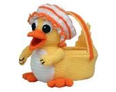 PDF Crochet Duck Easter Basket, Amigurumi Crochet Pattern - (7342) Td creations