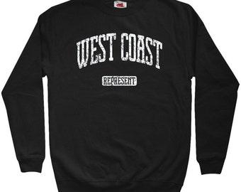 West Coast Represent Sweatshirt - Men S M L XL 2x 3x - Crewneck West Coast Shirt - 4 Colors