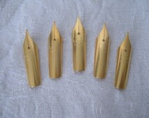 Set of Five The Regal Fountain Pen Tips - New Old Stock