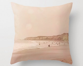 Sunset Bokeh, California Coast, Shoreline -  Cushion Pillow Cover only - Home Decor Throw Pillow - Beach Summer Days