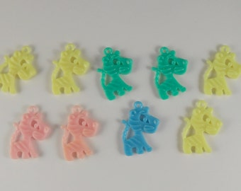 Vintage Premium Penny Gumball Machine Prize Plastic Toy Charms 9 Tigers Assorted Colors