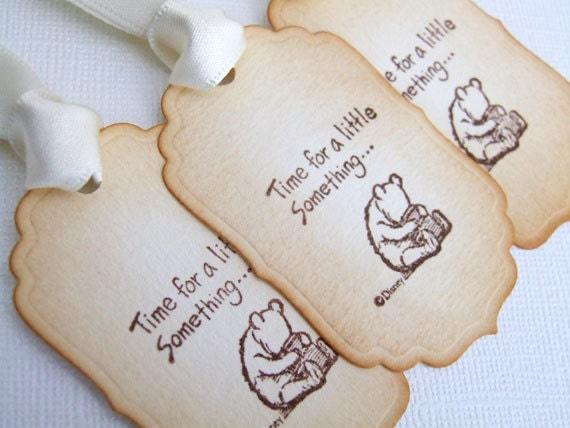 New Baby Boy Gift Tag : Winnie the pooh baby shower gift tags new boy girl