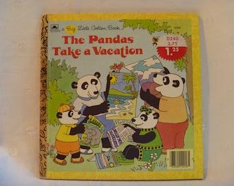 Pandas Take A Vacation 1986 A Big Little Golden Book