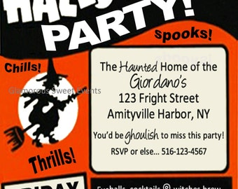 Halloween Invitation-Printable- GLAMOROUS SWEET EVENTS