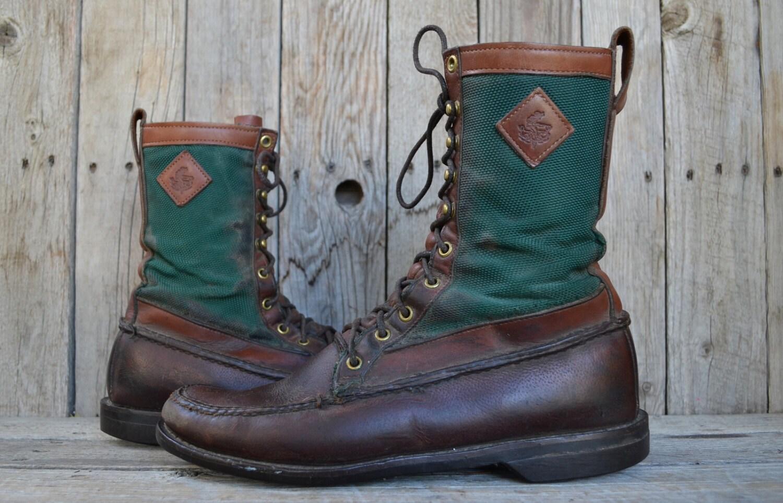Vintage Orvis Gokey Upland Canvas & Leather by RoslynVTGTradingCo Irish Setter Upland Boots