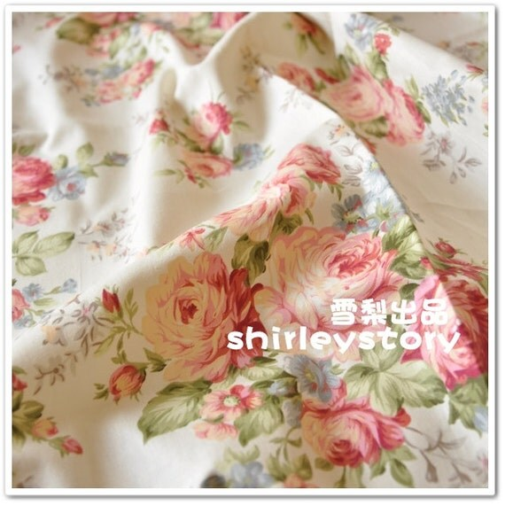 Chic Blue Beige Cotton Linen Plaid Curtains For Boys Bedroom: Cotton Linen Fabric Pink Peony Cream Light Beige Cream