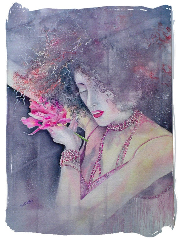 "Art Print Woman,  8.5x11"", dlrs29.00"