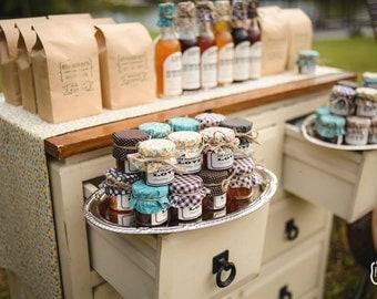 175 Custom Wedding Favors in Mini Mason Jars