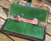 Handmade Green Leather wallet for women