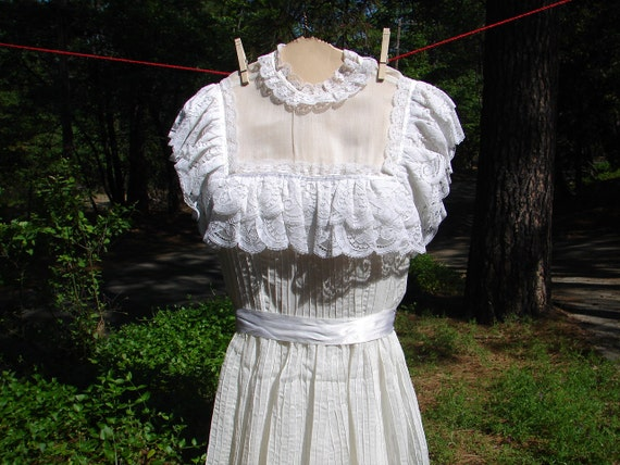 Closeout sale mexican pintuck long ecru by nopalitovintagemore for Mexican wedding dresses for sale