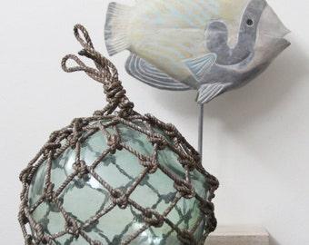 Beach Decor Greenish Big Onion Vintage Fishing Float by SEASTYLE