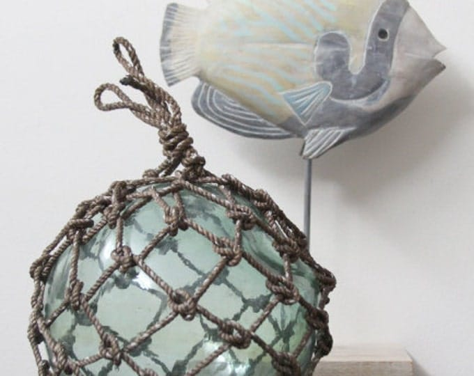 Beach Decor Greenish Big Onion Vintage Fishing Float by SEASTYLE