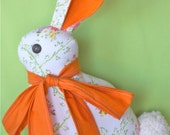 Bunny Pillow with Orange Bow