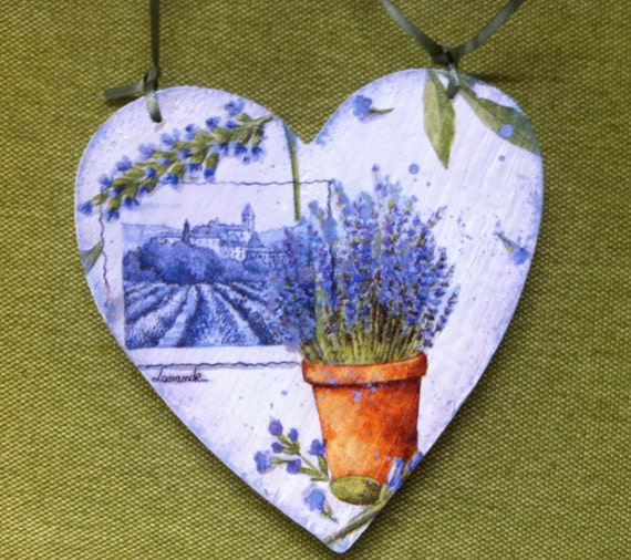 Decoupage  Shabby Chic Double Sided Wall Decoration Love To Garden