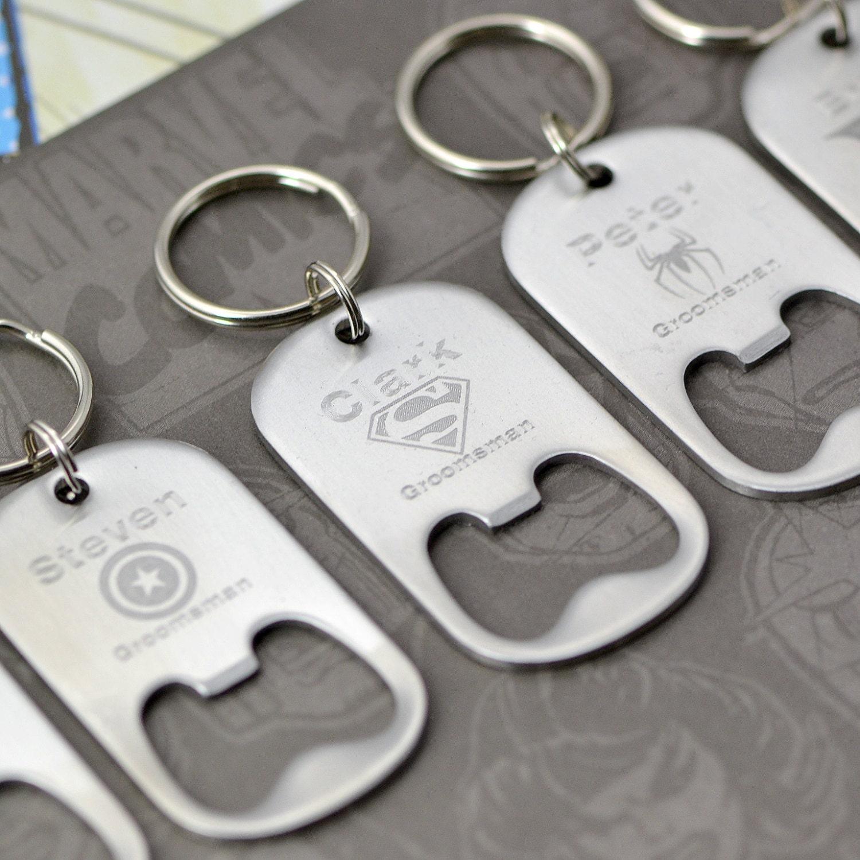 super hero keychain beer bottle opener keychain personalized. Black Bedroom Furniture Sets. Home Design Ideas