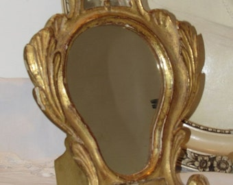 Antique, vintage French charming small table mirror.  Paris apartment, cottage chic