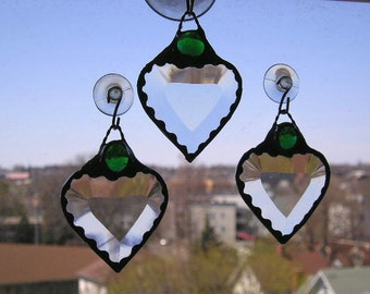 Stained Glass|May Birthstone|Birthstone Heart|Stained Glass Suncatcher|May Birthday|Green Gem|Emerald|Handcrafted|Made in USA