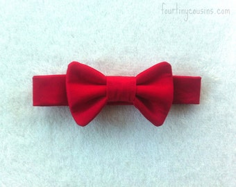 Baby Boy Christmas, Red bow tie, boys bow tie, baby bow tie, baby boy tie, infant bow tie, toddler bow tie, ring bearer, baby boy