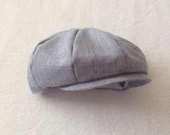 Baby boy hat, Ring Bearer Hat, boys newsboy, baby newsboy cap, baby ring bearer, suiting hat, heather gray hat, grey ring bearer, boys cap