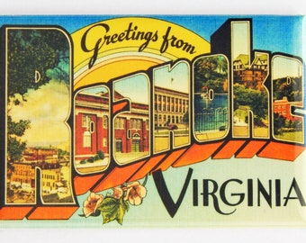 Greetings from Roanoke Virginia Fridge Magnet