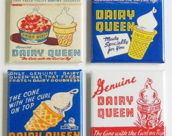 Dairy Queen Ice Cream Fridge Magnet Set