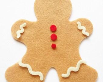 Felt Gingerbread, set of 6 pieces