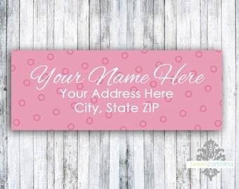 Return Address Labels - Set of 60 - Baby Girl Button