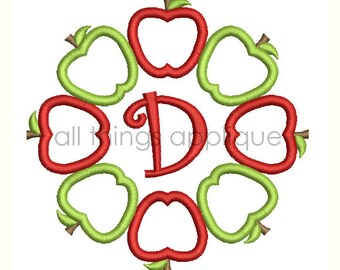 Circle of Apples Embroidery Designs - 3 Sizes - INSTANT DOWNLOAD