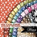 Star digital paper in 50 colors, cute celestial carnival background for small commercial and personal use : b0310 B v301 IP
