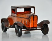 """Wyandotte Pressed Steel Coupe with Rubber Wheels, 5"""" Long, circa 1920's (FREE SHIPPING) REDUCED 20%!!!"""
