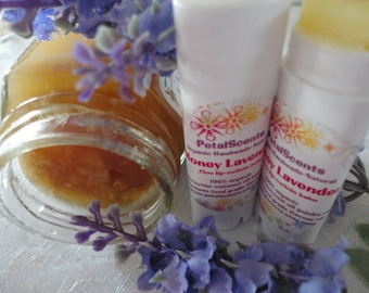 Honey Lavender - Lip and Cuticle Balm - .15oz Oval Twist Up Tube - 100% Organic - BPA Free Container