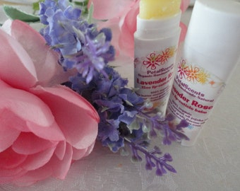 Lavender Rose - Lip and Cuticle Balm - .15oz Oval Twist Up Tube - 100% Organic - BPA Free Container