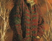 Easy Texture Cardigan  Sweater Pattern