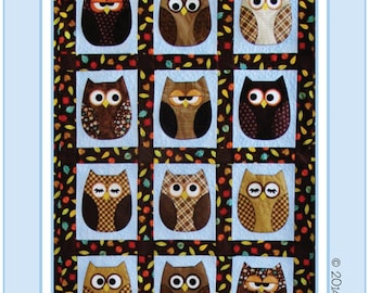 Quilt Pattern Baby Quilt Pattern Owl Quilt Look Whos Sleeping in my Bed Applique Patchwork
