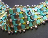 Tutorial - Deep Ocean Tila and Superduo beading tutorial - bracelet