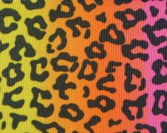 Neon Leopard Print 2.25 inch wide