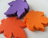 RESERVED 130, orange and red, Paper leaves, Leafs, leaves, Autumn, Fall, embellishment, Scrap booking,  by DoodleDee2 on etsy