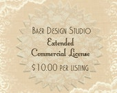 Extended License per listing - 8x11 inch or 12x12 inch printable paper- Digital Background Paper -commercial use