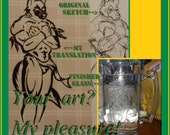 Custom glass etching - ANYTHING EVER on a Stein