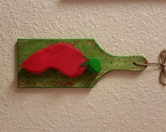 Chili pepper, wall hanging, red chili, kitchen chili pepper