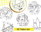 Wizard of 0z - embroidery pattern set