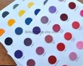 Wool Blend Felt Sample Color Cards