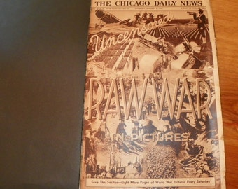 Vintage Newspaper Uncensored Raw War Chicago Daily News Jan 6 1934