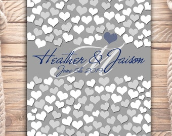 Wedding Memoir Custom Guestbook Poster | 122 Guest Sign In 20x24 | Unique Wedding Guest Book | BRIDAL GIFT POSTER | Interactive Art Print_04