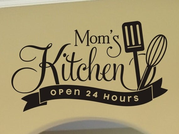 Moms kitchen wall decor : Kitchen wall decal decor dining