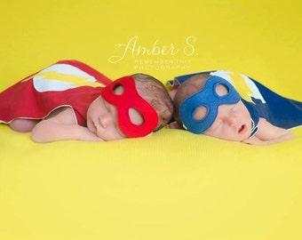 Infant Super Hero Cape Choose Your Own Symbol