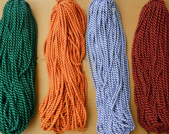 "10 mm 3/8"" polyproplyne Braided Rope string cord x 2 yard -jawahr"