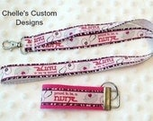 Proud to be a Nurse key chain and lanyard set...GREAT GIFT