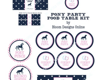 Preppy Pony FOOD TABLE Kit by Bloom Designs Online