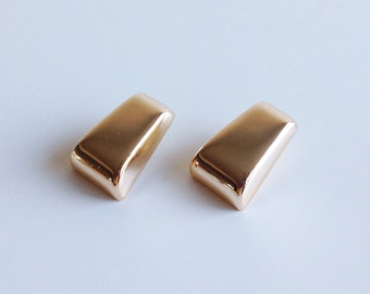 Vintage Lanvin Gold Modernist Earrings